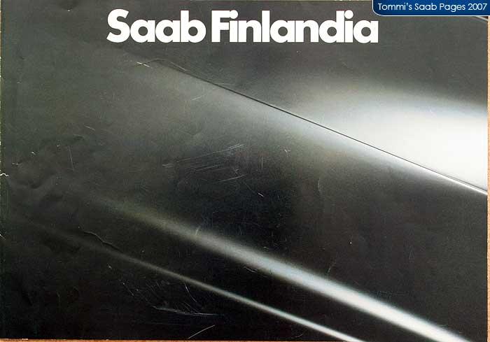 Saab Finlandia brochure cover page