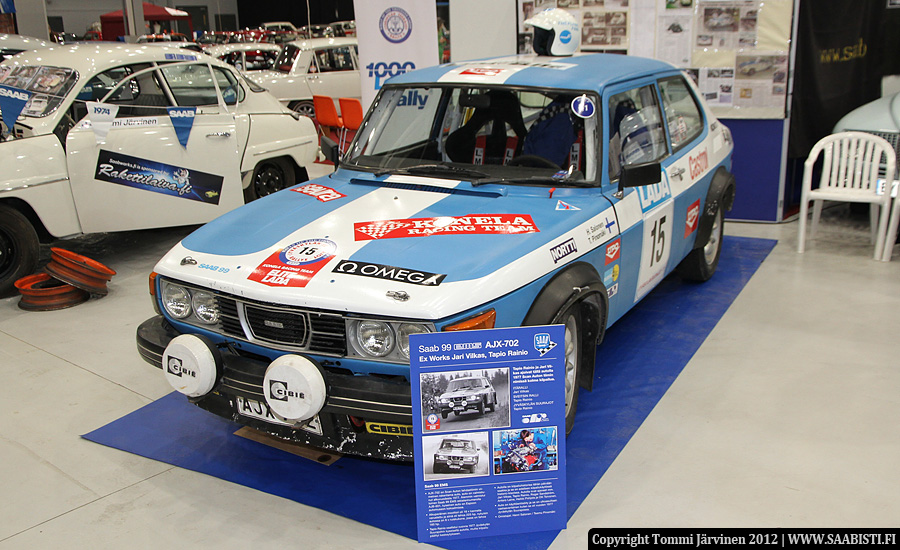 A Saab 99 EMS 16 Valve. Still used in Historic Rally Trophy today by Teemu Pinomäki and Henri Salonen.