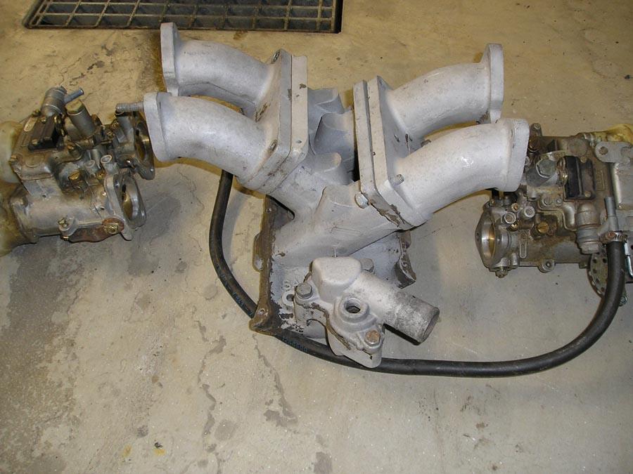 Sport&Rally cross-flow manifold, 2 x Dellorto 45, air filter boxes, long distributor