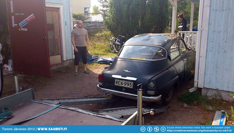 Yep. A 1964 Saab Sport as advertised.