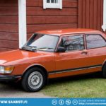 Saab 99 in the typical color scheme for the Petro.
