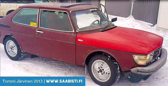 Made in Finland. Saab 99 Turbo 1978 - full restoration needed.