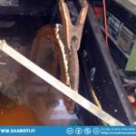 We used electrolysis to remove the worst rust.