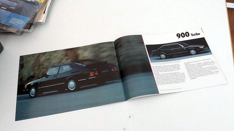 Saab 90 900 9000 1986, A4, 20s. 6 €.