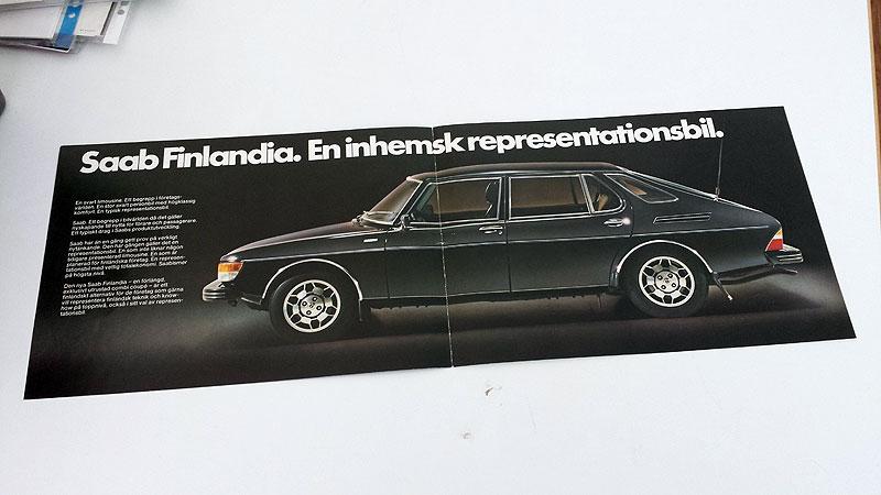 Saab 99 Finlandia, 4 sivua. på svenska, koko n. A5, 25 €