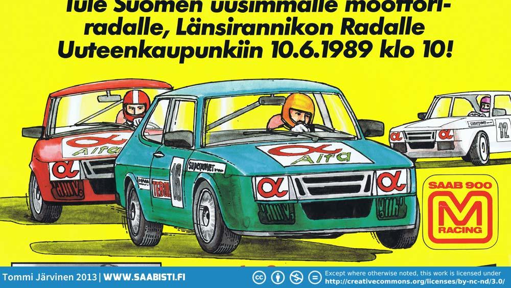 Saab 900 M -racing poster.