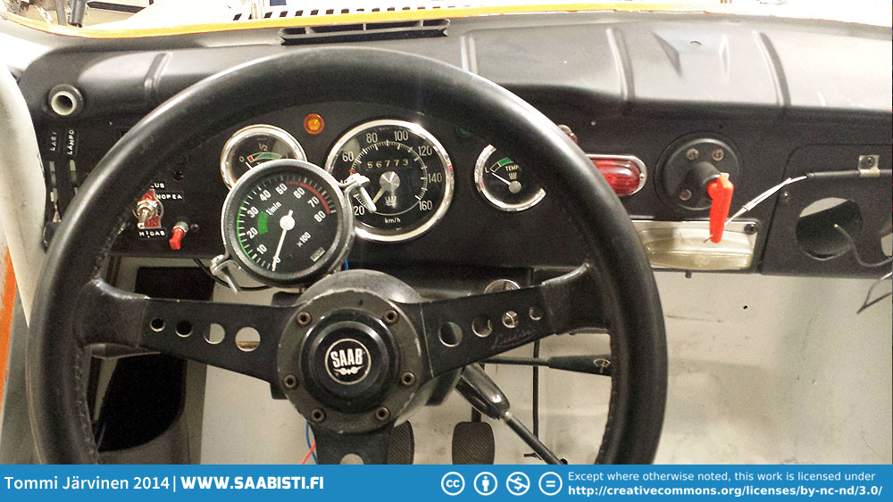 Revcounter and a Luisi steering wheel. Not Sport&Rally original, but pretty similar and quite sturdy.
