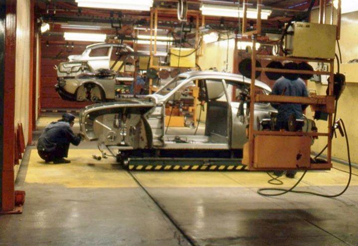 Historical photos from the Uusikaupunki car factory