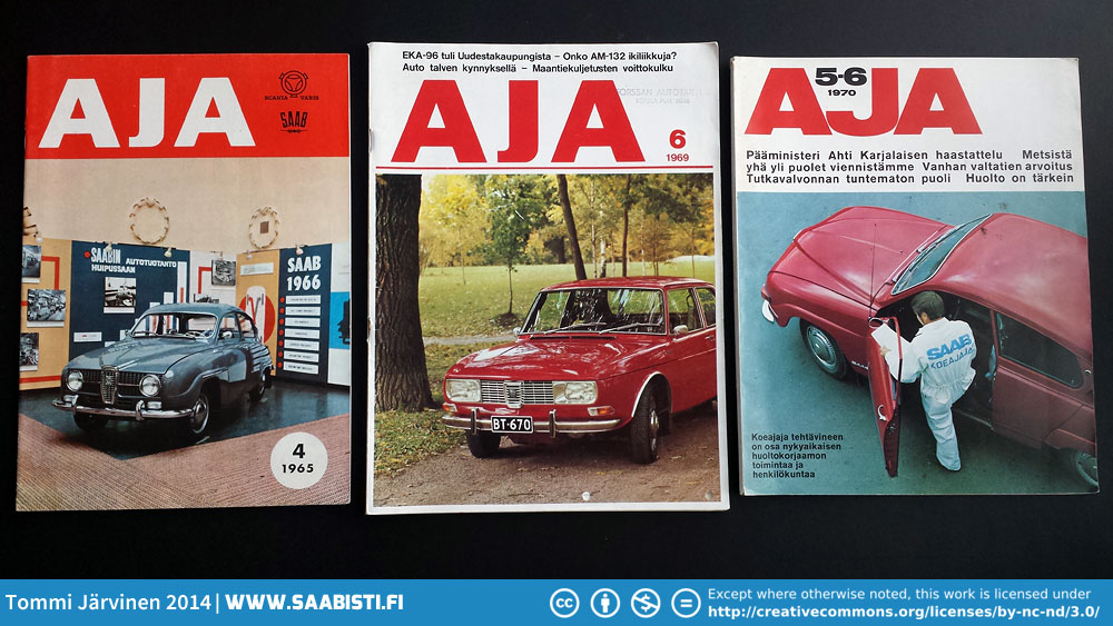AJA-magazines – Saab marketing in the 1960s to 1994