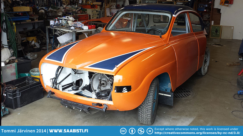 Saab 96 V4 Rally – more paint