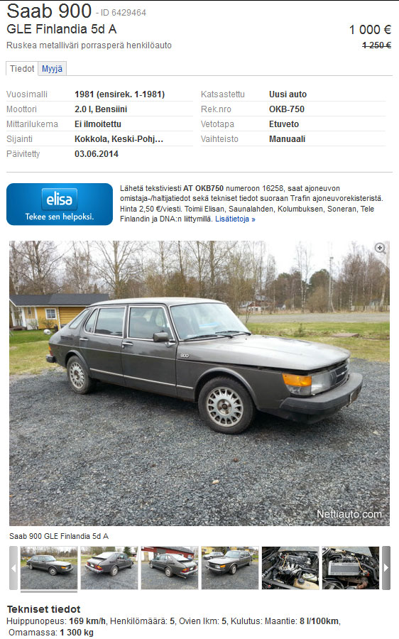 5-door Saab 900 Finlandia for sale
