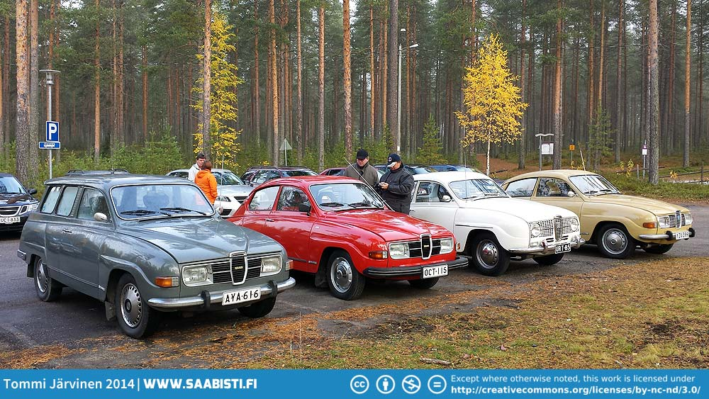 Saab Club Meeting in Northern Finland