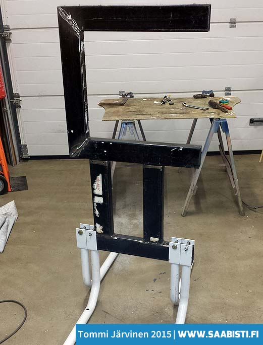 The frame welded together. It only needs the wheels...