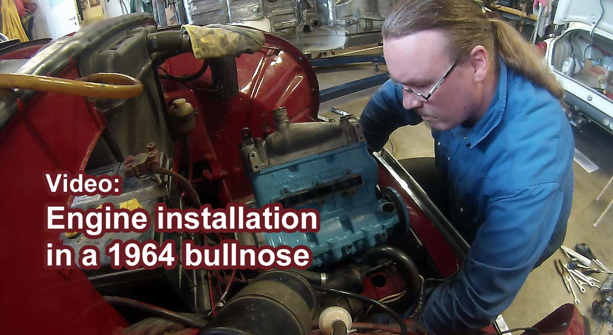 Video: Engine installation in a 1964 Saab two-stroke