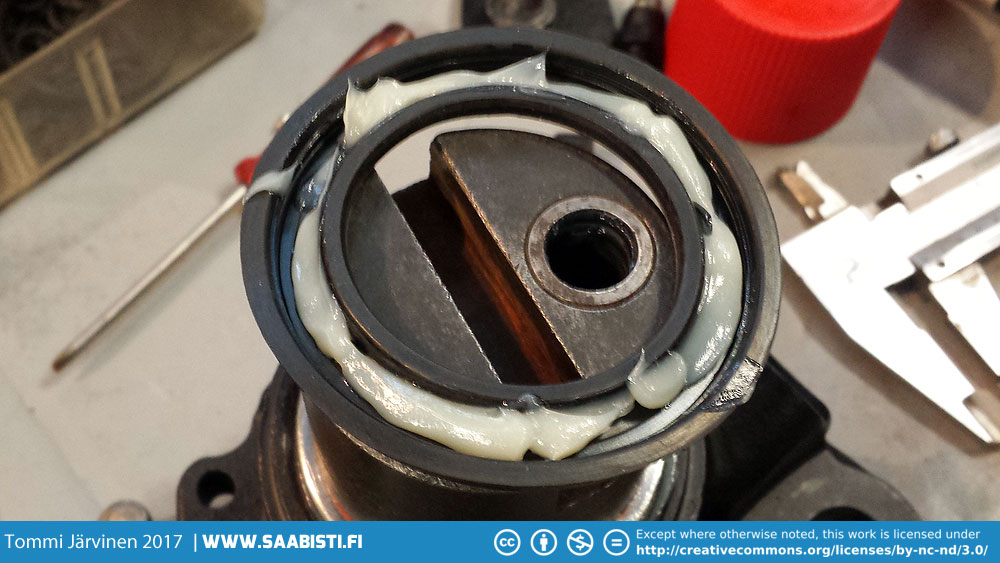 A generous amount of brake grease is recommended with installing the new seals.