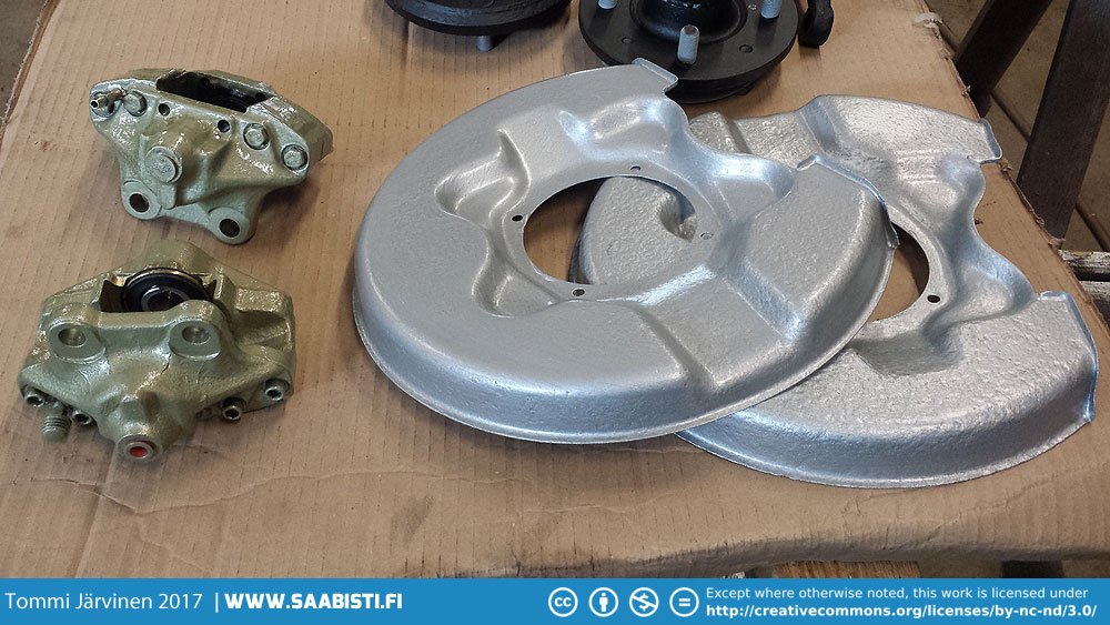 Rear brake calipers were also rebuilt with new pistons and seals..
