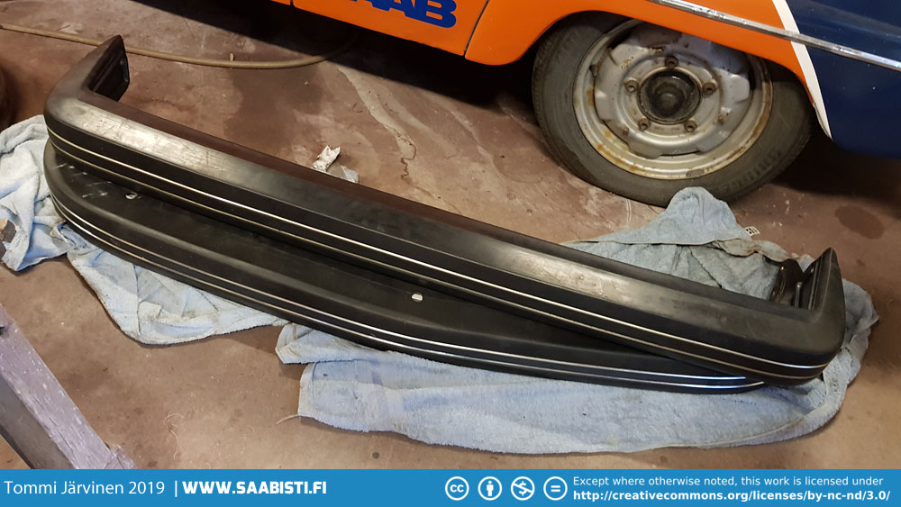 NOS Saab 99 bumpers complete