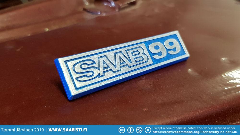 Saab 99 dash emblem done.